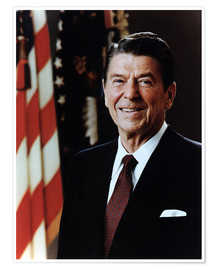 Premium poster Official Portrait of President Reagan in February 1981