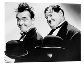 Acrylic print  Stan Laurel and Oliver Hardy
