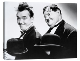 Canvas print  Stan Laurel and Oliver Hardy