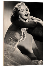 Wood print  ALL ABOUT EVE, Marilyn Monroe