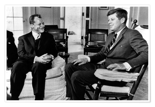 Premium poster Chancellor Willy Brandt and President John F. Kennedy
