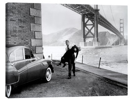 Canvas  VERTIGO, James Stewart, Kim Novak, 1958
