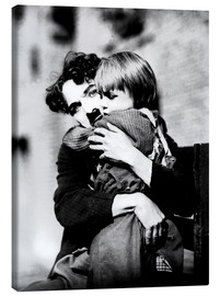 Canvas print  Charlie Chaplin and Jackie Coogan