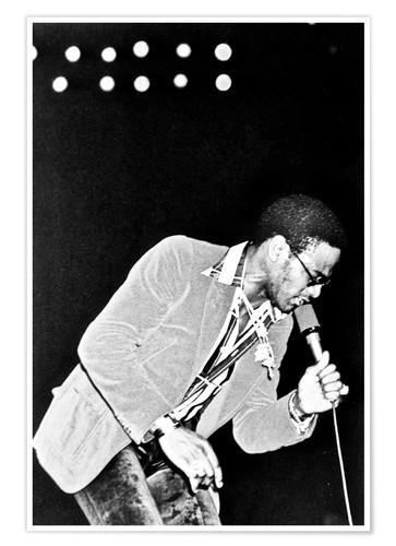 Premium poster Al Green onstage