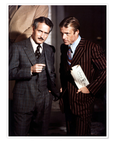 Premium poster THE STING - Paul Newman and Robert Redford