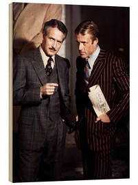 Wood print  THE STING - Paul Newman and Robert Redford
