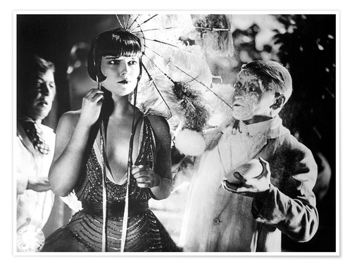 Premium poster PANDORA'S BOX, Louise Brooks (center), 1929