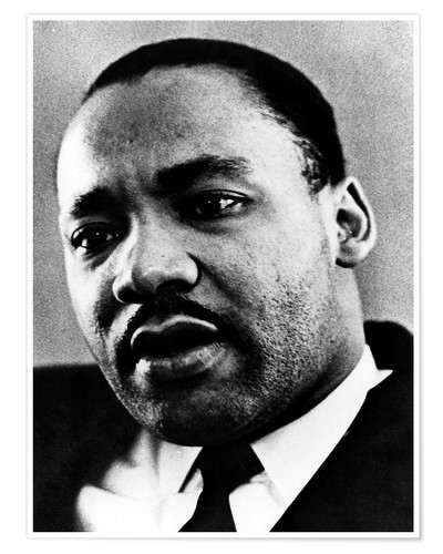Premium poster Dr. Martin Luther King Jr. (1929-1968), African American civil rights leader, c. 1960's..