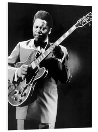 Foam board print  B.B. King and Lucille