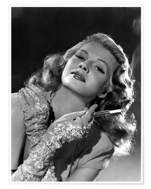 Premium poster Rita Hayworth with Cigarette