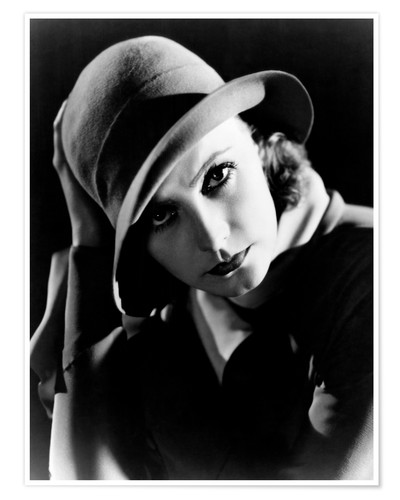 Premium poster INSPIRATION, Greta Garbo, portrait by Clarence Sinclair Bull, 1931