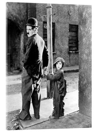 Acrylic glass  THE KID, Charles Chaplin, Jackie Coogan, 1921