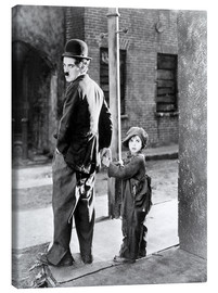 Canvas  THE KID, Charles Chaplin, Jackie Coogan, 1921