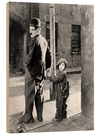 Wood  THE KID, Charles Chaplin, Jackie Coogan, 1921