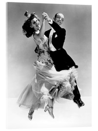 Acrylic glass  Rita Hayworth and Fred Astaire