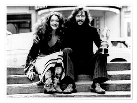 Premium poster Eric Clapton and Alice Ormsby-Gore