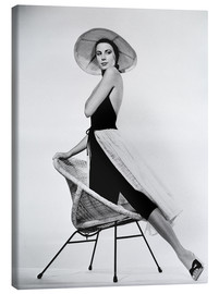 Canvas print  Grace Kelly with hat
