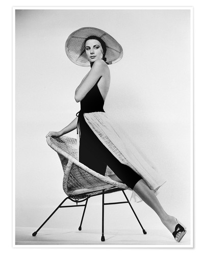 Premium poster Grace Kelly with hat