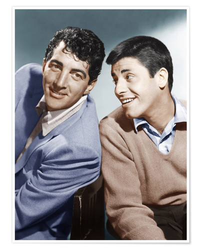 Premium poster From left: Dean Martin, Jerry Lewis, early 1950s