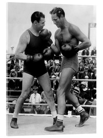 Acrylic print  Jack Dempsey and Max Baer