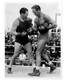 Premium poster Jack Dempsey and Max Baer