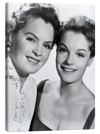 Canvas print  Romy Schneider with her mother Magda Schneider