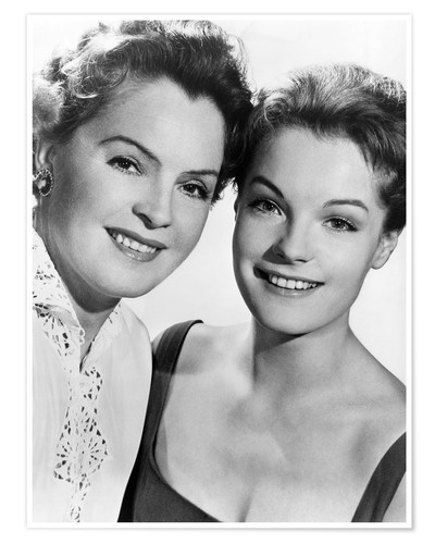 Premium poster Romy Schneider with her mother Magda Schneider