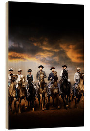 Wood print  THE MAGNIFICENT SEVEN