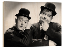 Wood print  Stan Laurel and Oliver Hardy