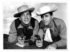 Premium poster Dean Martin and Jerry Lewis as cowboys