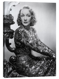 Marlene Dietrich in a sequined dress