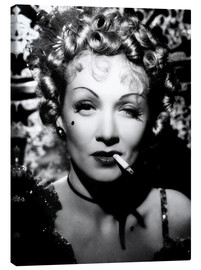 Marlene Dietrich with a cigarette
