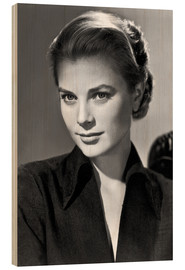 Wood print  Grace Kelly