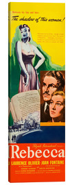Canvas print  REBECCA, from left: Laurence Olivier, Joan Fontaine, 1940.