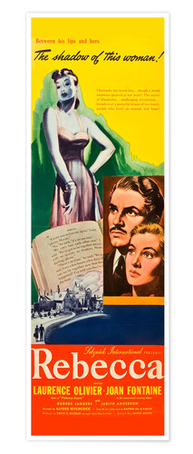Premium poster REBECCA, from left: Laurence Olivier, Joan Fontaine, 1940.