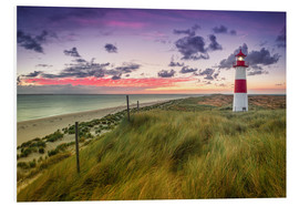Foam board print  Lighthouse List East (Elbow/Sylt) - Dirk Wiemer