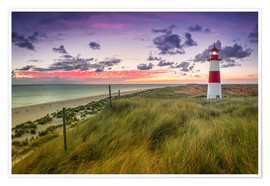 Premium poster Lighthouse List East (Elbow/Sylt)