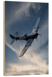 Wood print  Spitfire Pass - airpowerart