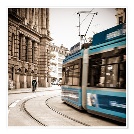 Poster  Munich city traffic 1x1 - Hannes Cmarits