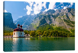 Canvas print  St. Bartholomew's Church, Königssee - UtArt