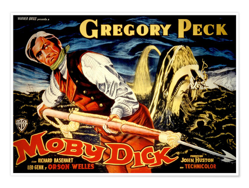 Premium poster MOBY DICK, Gregory Peck, 1956