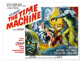 Premium poster THE TIME MACHINE, Yvette Mimieux, Rod Taylor
