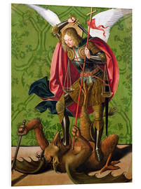 Foam board print  St. Michael kills the dragon - Josse Lieferinxe