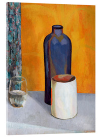 Acrylic print  Still Life with a Blue Bottle - Roger Fry