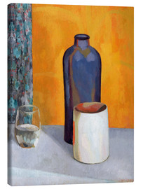 Canvas print  Still Life with a Blue Bottle - Roger Fry