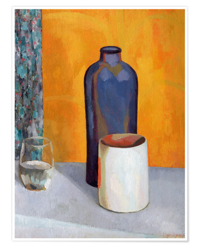 Premium poster Still Life with a Blue Bottle