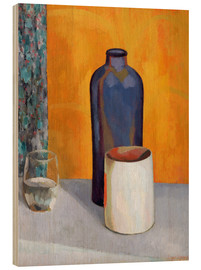 Wood print  Still Life with a Blue Bottle - Roger Fry