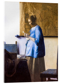 Acrylic glass  Woman Reading a Letter - Jan Vermeer