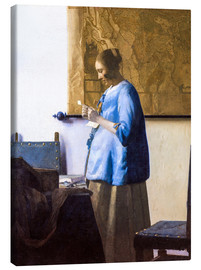Canvas print  Woman reading a Letter - Jan Vermeer