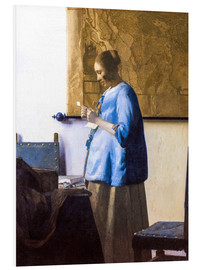 Foam board print  Woman reading a Letter - Jan Vermeer